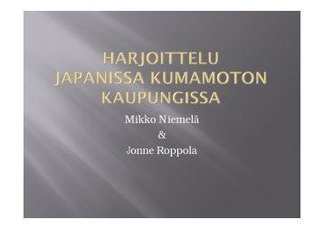 Mikko Niemelä & Jonne Roppola - Oamk