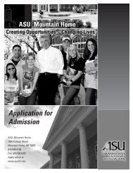 Application for Admission - Arkansas State University - Mountain ...