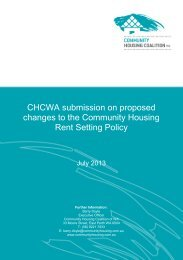 proposed changes to the Community Housing Rent Setting Policy