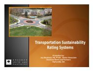 Comparison of Transportation Sustainability Rating Systems