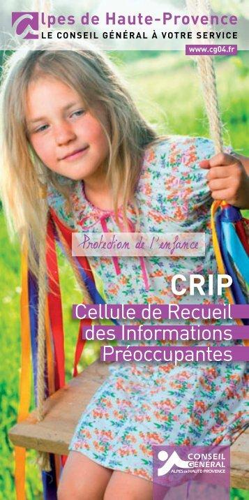 Plaquette d'information - Conseil Général des Alpes de Haute ...