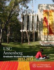 Graduate Student Handbook 12/13 - USC Student Affairs ...