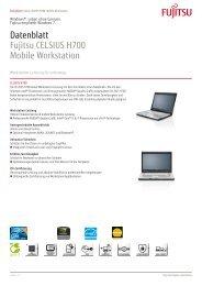 Datenblatt Fujitsu CELSIUS H700 Mobile Workstation