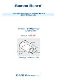 DANI System s.r.l. Modello: RB TUBO 160 L=380 ... - RUMOR BLOCK