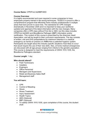 first aid fact sheets pdf