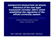 GEOMATICS EDUCATION IN SPAIN: influence of the new legal ...
