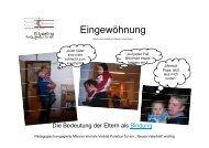 Eingewöhnung - St. Augustinus Kindergarten GmbH