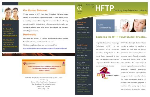 Exploring the HFTP PolyU Student Chapter… - School of Hotel ...