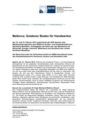 Mallorca: Goldener Boden für Handwerker - AHK Spanien