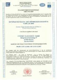 CE-Zertifikat fumilux 4000 - Eternit