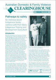 Pathways to safety - Australian Domestic and Family Violence ...