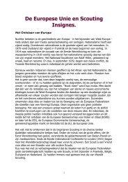De Europese Unie en Scouting Insignes. - kelpin.nl