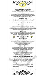 Breakfast Favorites Petite Provence Omelettes Bistro Specials