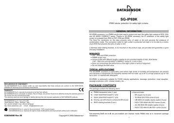 SG-IP69K - Datasensor