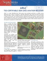 TSO-CERTIFIABLE OEM GNSS AVIATION RECEIVER - ppm GmbH