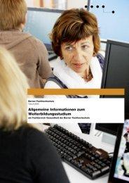 Informationen von A bis Z - Gesundheit - Berner Fachhochschule