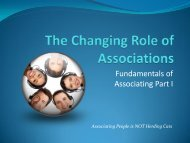 The Changing Role of Associations