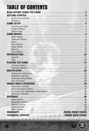 Table of Contents - 400 Bad Request