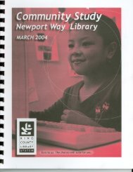 Community Study - King County Library System