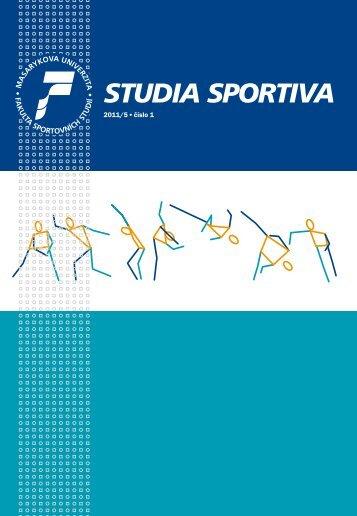 studia sportiva - Fakulta sportovních studií - Masarykova univerzita