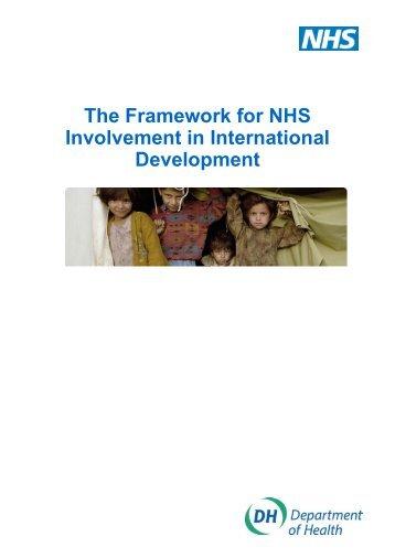 The Framework for NHS Involvement in International ... - Public Health