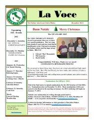 December - The Italian American Club of Boise