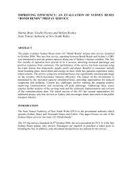 "AN EVALUATION OF SYDNEY BUSES ""BONDI BENDY"" - Thredbo ..."