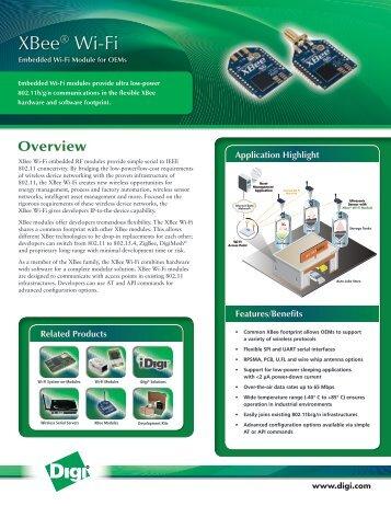 XBee Wi-Fi - Datasheet - Digi International