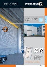 Rolltore/Rollgitter - Günther-Tore GmbH