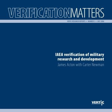 Verification Matters no. 5 - VERTIC