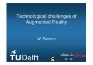 Technological challenges of Augmented Reality