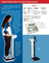 Detecto Waist-High Personal Fitness Scales - Scaleable Scales