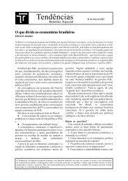 O que divide os economistas brasileiros