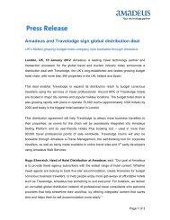 Amadeus Travelodge Global Distribution Deal - Investor relations at ...