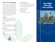 Your Farm. Your Life. Your Adviser. - Certified Crop Adviser