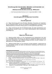 Verordnung über das Errichten, Betreiben und Anwenden von