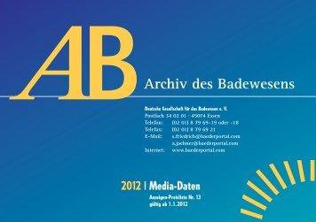 Mediadaten - Hygieneinspektoren Baden-Würtemberg eV