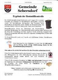 Ergebnisse der Restmüllkontrolle Aug. 2011 - Gemeinde und ...