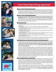 Texas Parent-Teen Driving Agreement