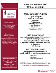 Wed, October 17, 2012 1 pm - Beaumont physicians