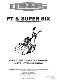 Instruction Manual for Dennis FT and Super Six Series (pdf - 4.8mb)