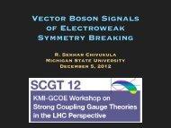 Vector Boson Signals of Electroweak Symmetry Breaking
