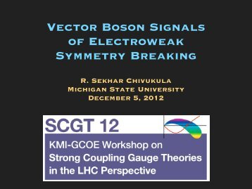 Vector Boson Signals of Electroweak Symmetry Breaking