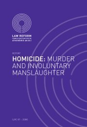 homicide: murder and involuntary manslaughter - Law Reform ...