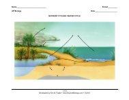Nutrient Cycle diagrams - Explore Biology