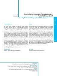 Ästhetische Korrekturen im Frontzahnbereich – Teil 2 - Kokich ...