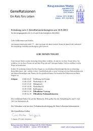 Einladung zum 2 - Termin - Ratsgymnasium Minden