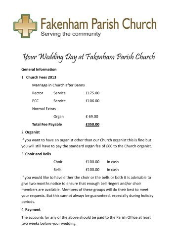 Your Wedding Day at Fakenham Parish Church