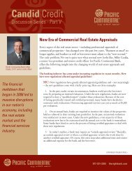 New Era of Commercial Real Estate Appraisals - Pacific Continental ...
