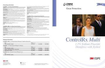 ControlRx™ Multi 1.1% Sodium Fluoride Dentifrice - 3M